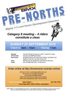 2016 Pre-Norths Flyer